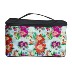 Floral Flower Pattern Seamless Cosmetic Storage Case