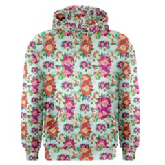 Floral Flower Pattern Seamless Men s Pullover Hoodie