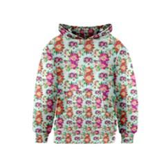 Floral Flower Pattern Seamless Kids  Pullover Hoodie
