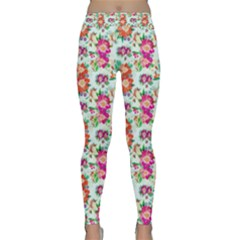 Floral Flower Pattern Seamless Classic Yoga Leggings