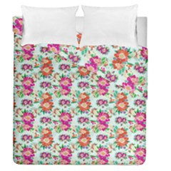 Floral Flower Pattern Seamless Duvet Cover Double Side (queen Size)