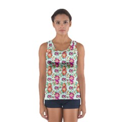 Floral Flower Pattern Seamless Women s Sport Tank Top