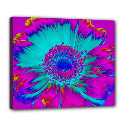 Retro Colorful Decoration Texture Deluxe Canvas 24  x 20
