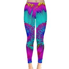 Retro Colorful Decoration Texture Leggings