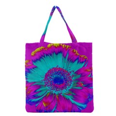 Retro Colorful Decoration Texture Grocery Tote Bag