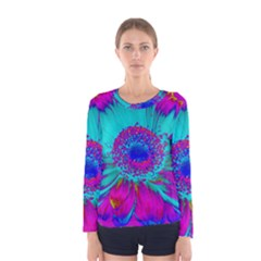 Retro Colorful Decoration Texture Women s Long Sleeve Tee