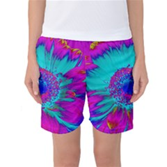 Retro Colorful Decoration Texture Women s Basketball Shorts