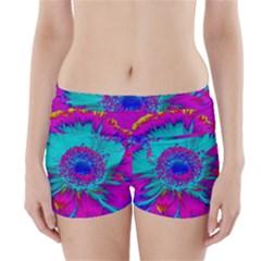 Retro Colorful Decoration Texture Boyleg Bikini Wrap Bottoms