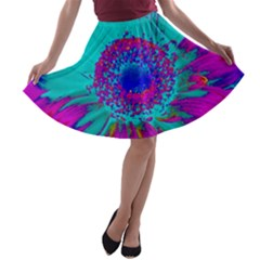 Retro Colorful Decoration Texture A Line Skater Skirt