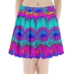 Retro Colorful Decoration Texture Pleated Mini Skirt