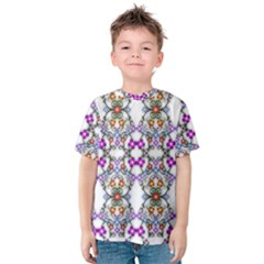 Floral Ornament Baby Girl Design Kids  Cotton Tee