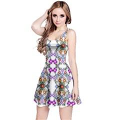 Floral Ornament Baby Girl Design Reversible Sleeveless Dress