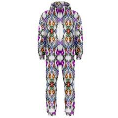 Floral Ornament Baby Girl Design Hooded Jumpsuit (Men)