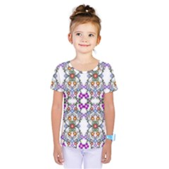 Floral Ornament Baby Girl Design Kids  One Piece Tee