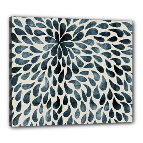 Abstract Flower Petals Floral Canvas 24  x 20