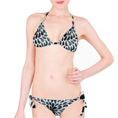 Abstract Flower Petals Floral Bikini Set