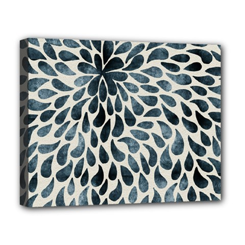 Abstract Flower Petals Floral Deluxe Canvas 20  x 16