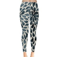 Abstract Flower Petals Floral Leggings