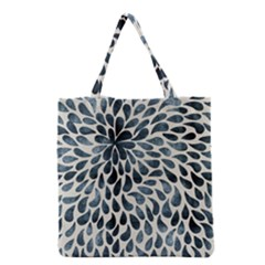 Abstract Flower Petals Floral Grocery Tote Bag