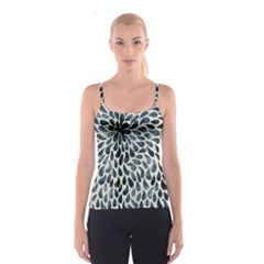 Abstract Flower Petals Floral Spaghetti Strap Top