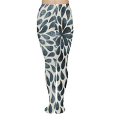 Abstract Flower Petals Floral Women s Tights