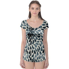 Abstract Flower Petals Floral Boyleg Leotard