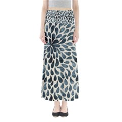 Abstract Flower Petals Floral Maxi Skirts