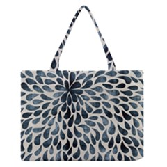 Abstract Flower Petals Floral Medium Zipper Tote Bag
