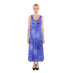 Retro Flower Pattern Design Batik Sleeveless Maxi Dress