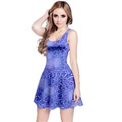 Retro Flower Pattern Design Batik Reversible Sleeveless Dress