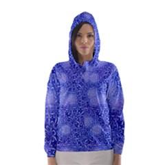 Retro Flower Pattern Design Batik Hooded Wind Breaker (women)