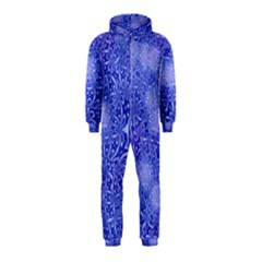 Retro Flower Pattern Design Batik Hooded Jumpsuit (Kids)