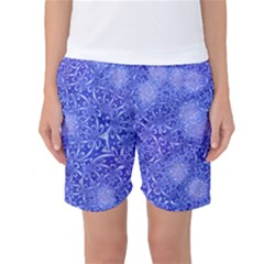 Retro Flower Pattern Design Batik Women s Basketball Shorts