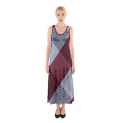 Textile Geometric Retro Pattern Sleeveless Maxi Dress