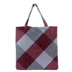 Textile Geometric Retro Pattern Grocery Tote Bag