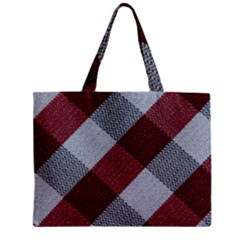 Textile Geometric Retro Pattern Zipper Mini Tote Bag
