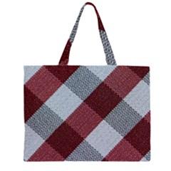 Textile Geometric Retro Pattern Large Tote Bag
