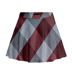 Textile Geometric Retro Pattern Mini Flare Skirt
