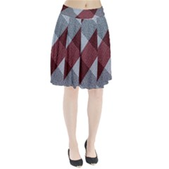 Textile Geometric Retro Pattern Pleated Skirt