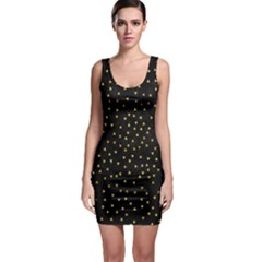 Grunge Retro Pattern Black Triangles Sleeveless Bodycon Dress