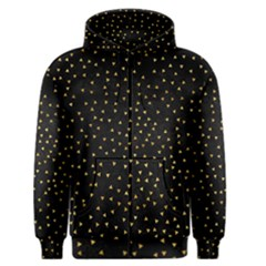 Grunge Retro Pattern Black Triangles Men s Zipper Hoodie