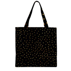 Grunge Retro Pattern Black Triangles Zipper Grocery Tote Bag