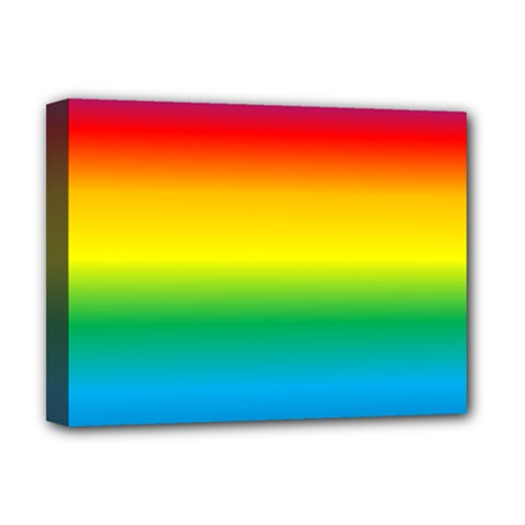 Rainbow Background Colourful Deluxe Canvas 16  x 12