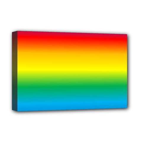 Rainbow Background Colourful Deluxe Canvas 18  x 12