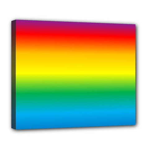 Rainbow Background Colourful Deluxe Canvas 24  x 20
