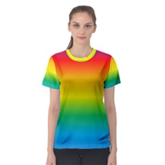 Rainbow Background Colourful Women s Sport Mesh Tee