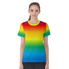 Rainbow Background Colourful Women s Cotton Tee