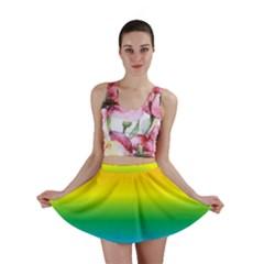 Rainbow Background Colourful Mini Skirt