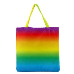 Rainbow Background Colourful Grocery Tote Bag