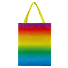 Rainbow Background Colourful Classic Tote Bag
